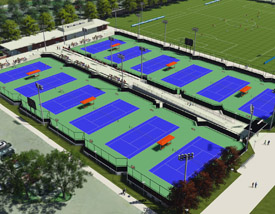 Eve Zimmerman Tennis Facility at University of the Pacific