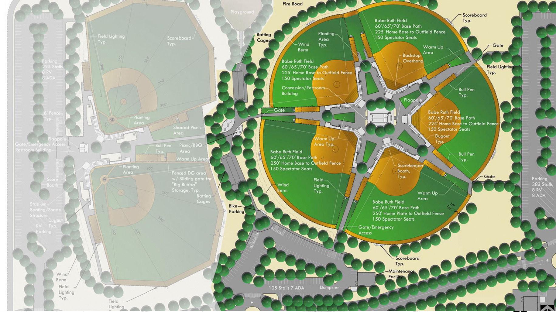 Legacy youth sports park verde design for Sports complex planning design